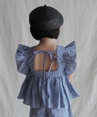 Butterfly sleeve top(blue)