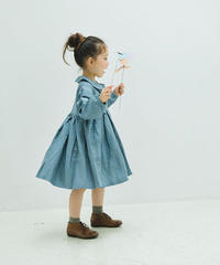 Bow tie Peter Pan collar dress (blue)