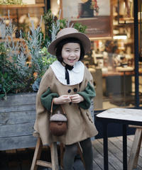 Wool poncho coat(camel)