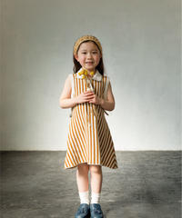 Stripe cashmere dress (ginger)