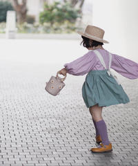 Lantern sleeves blouse (lavender)