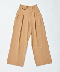 【入荷】 HIGH STRECH  TWO-TUCK PT(Beige)