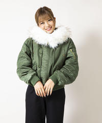 フェイクファーMA-1ジャケット【7-10日程度で発送予定】