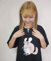 チンチラプリントTシャツ【9月中旬~下旬に発送予定】