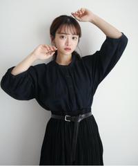 コットンバンドカラーチュニック【7-10日程度で発送予定】