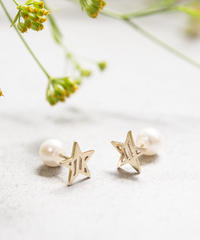 stripe star pierce(K10YG)/ KAZAMI JEWELRY