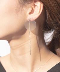 4way Circle Chain Pierce(Silver)/ ON Glass Jewelry