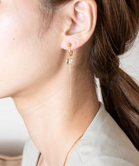 SWAY lemon quartz earring(K10YG)/ KAZAMI JEWELRY