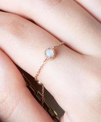 opal chain ring(K18YG)/ KAZAMI JEWELRY