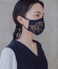 ペガサス刺繍マスク【濃紺】