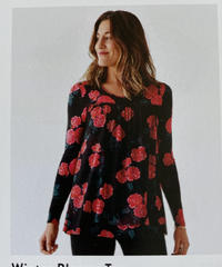 Winter Blooms Top