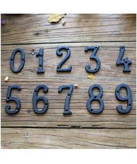 ロートアイアン製 サインナンバープレート 鋳物製