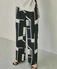 TODAYFUL|Geometric Tuck Trousers|12110727|P3012