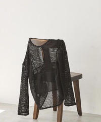 TODAYFUL|Patchwork Mesh Tops|T3120