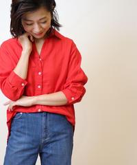 麻100%七分袖シャツ|T1026