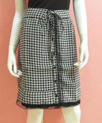 裾レースギンガムスカート