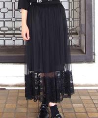 裾レースシースルースカート