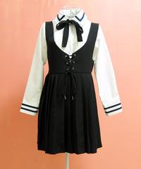衿袖ラインシャツブラウス B16-01