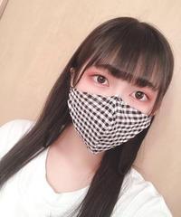 夏用マスク・ギンガムチェック