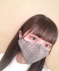 夏用マスク・クラシカルチェック×レース