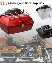 【送料無料】大型バイク用 ツーリングトランク ツアーパック  48L +マウントラック+ベース 耐衝撃 リア テイル ボックス