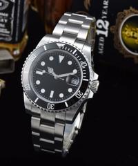 ロレックス サブマリーナ オマージュウォッチ ノーロゴ セラミックベゼル ブラックダイヤル メンズ腕時計 ビジネス腕時計 ダイバーズウォッチ