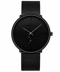 FIZILI メンズ腕時計 クォーツ式 防水 ステンレス 超薄型