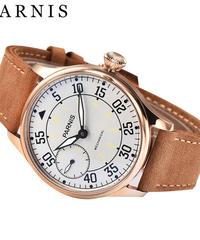 44mm メンズ 機械式時計 ビジネス腕時計 Parnis  防水 発光 手巻き時計