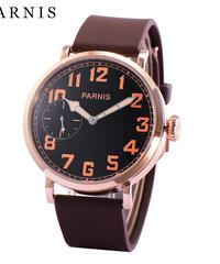 メンズ腕時計 46mm Parnis 機械式腕時計 ステンレススチール 手巻き メンズウォッチ