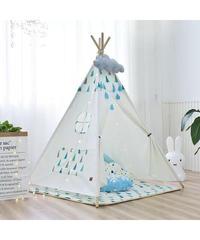 子供テント プレイテント 教育 知恵 健康 ハウス  屋内テント 室内テント インディアンデザイン 送料無料 (mk00151)