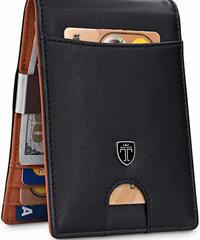 マネークリップ TRAVANDO製  カードホルダー  財布 ブラック