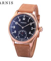 オリジナルパーニスウォッチメンズ手巻き機械式時計ルミナスナンバーハンドセットセカンドクロノグラフゴールドメンズ腕時計