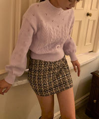 tweed skirt〈M01-SK008〉