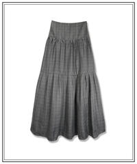 【ViVi掲載】glen check high waist skirt