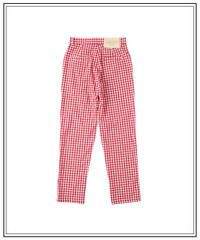 rouge vichy pants