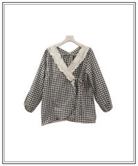 gingham check room wear〈M01-A003〉