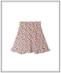 high waist rose pattern skirt〈M00-SK004〉