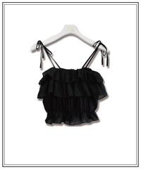 black frill bustier〈M00-B025〉