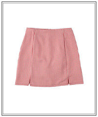 rouge essence gingham skirt