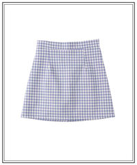 ciel blue gingham skirt