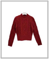 blushing high neck knit