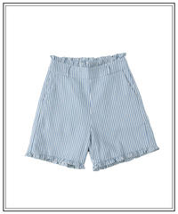 french marine stripe short pants