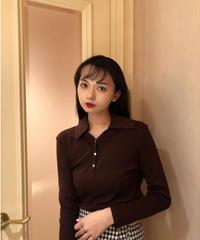 ブラウンポロシャツ Vintage311