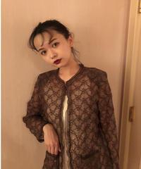 シースルー花柄カーディガン Vintage309