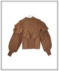 volume frill knit