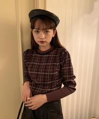 レザーベレー帽 M01-AC018