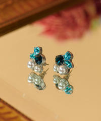 【12.11(Fri)12:00-STOCKS】MIRION CARAT Pierce /earring(blue)