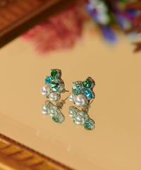 【12.6(sun)20:00- STOCKS】ファンクラブ限定 MIRION CARAT Pierce /earring(green)