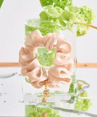 Floral  Scrunchie Small(Beige)
