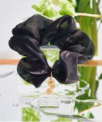 Floral Scrunchie Big(Black)